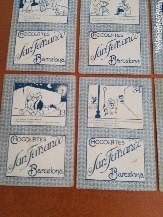 Barajas de cartas: Antigua Baraja cartas publicidad Chocolates San Fernando Ilustraciones Bofarull - 1932 - Incompleta - Foto 26 - 173866544