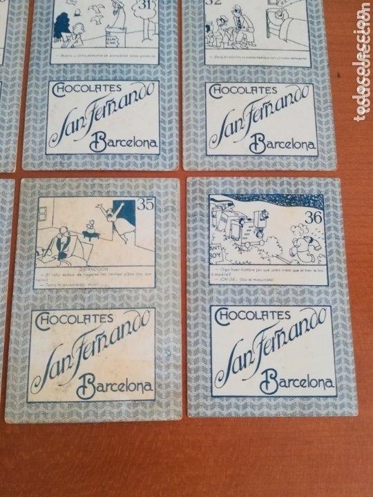 Barajas de cartas: Antigua Baraja cartas publicidad Chocolates San Fernando Ilustraciones Bofarull - 1932 - Incompleta - Foto 27 - 173866544