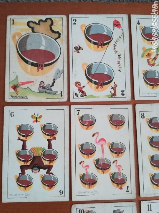 Barajas de cartas: Antigua Baraja cartas publicidad Chocolates San Fernando Ilustraciones Bofarull - 1932 - Incompleta - Foto 29 - 173866544