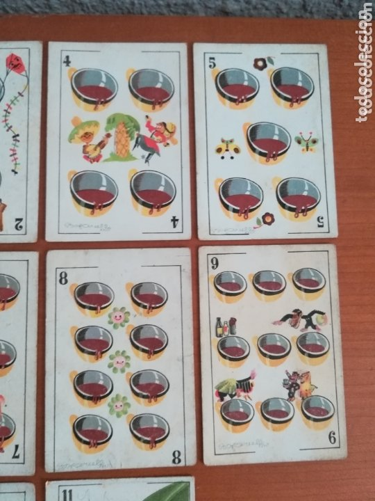 Barajas de cartas: Antigua Baraja cartas publicidad Chocolates San Fernando Ilustraciones Bofarull - 1932 - Incompleta - Foto 30 - 173866544