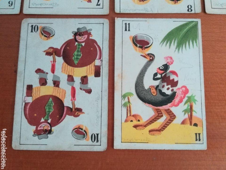 Barajas de cartas: Antigua Baraja cartas publicidad Chocolates San Fernando Ilustraciones Bofarull - 1932 - Incompleta - Foto 31 - 173866544