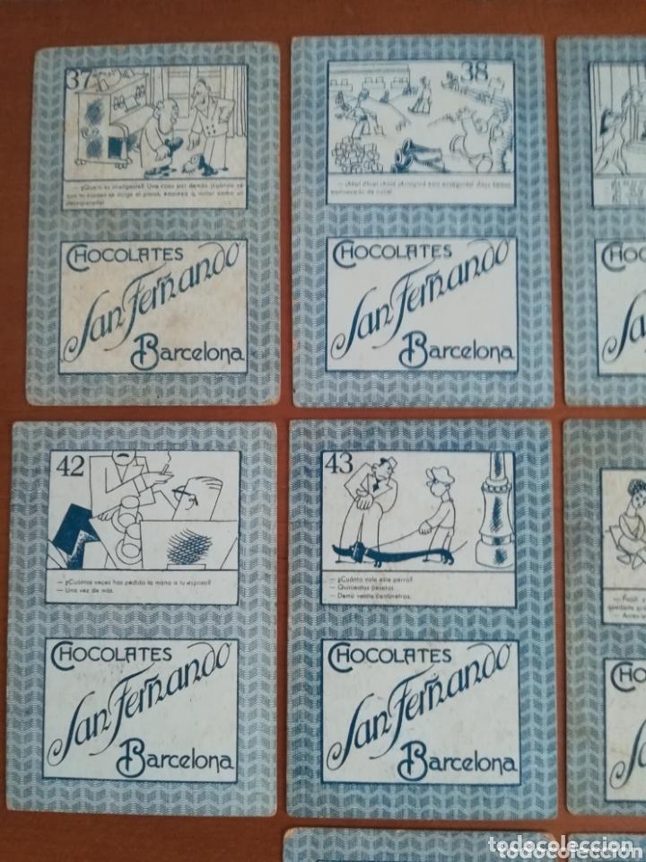 Barajas de cartas: Antigua Baraja cartas publicidad Chocolates San Fernando Ilustraciones Bofarull - 1932 - Incompleta - Foto 33 - 173866544