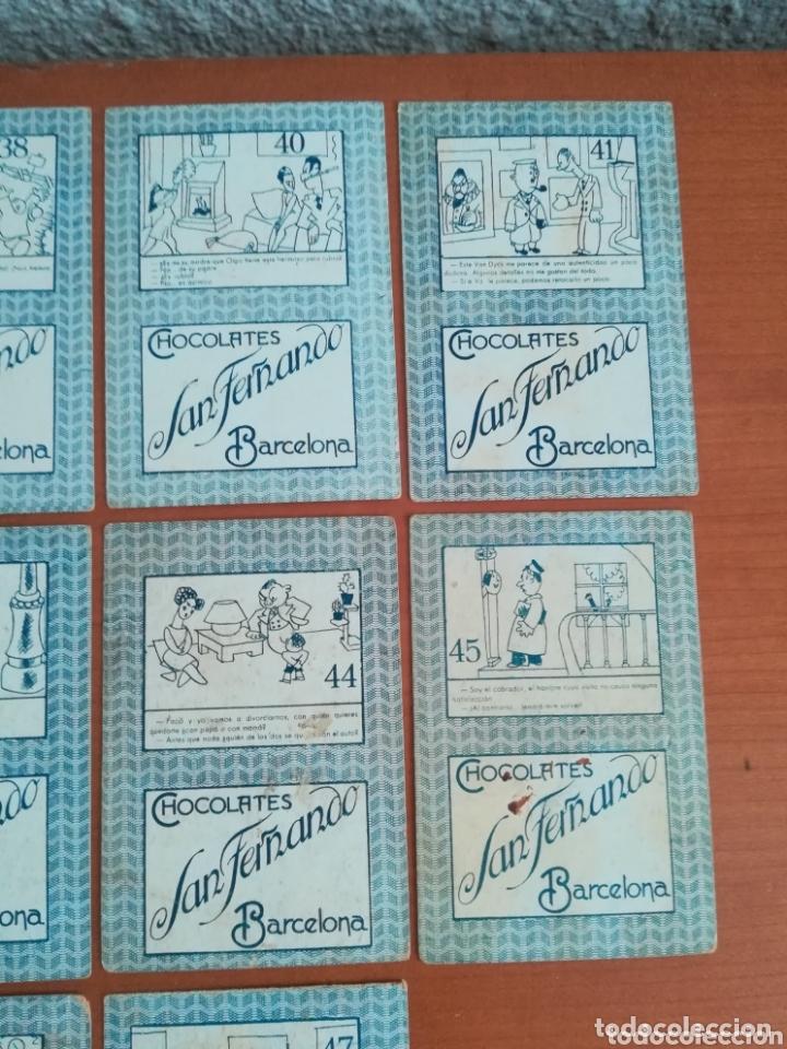Barajas de cartas: Antigua Baraja cartas publicidad Chocolates San Fernando Ilustraciones Bofarull - 1932 - Incompleta - Foto 34 - 173866544