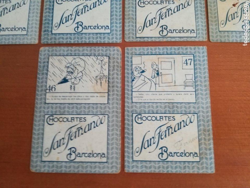 Barajas de cartas: Antigua Baraja cartas publicidad Chocolates San Fernando Ilustraciones Bofarull - 1932 - Incompleta - Foto 35 - 173866544
