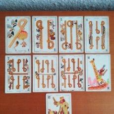 Barajas de cartas: ANTIGUA BARAJA CARTAS PUBLICIDAD CHOCOLATES SAN FERNANDO ILUSTRACIONES BOFARULL - 1932 - INCOMPLETA. Lote 173866544