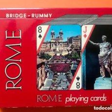 Barajas de cartas: DOBLE BARAJA DE BRIDGE-RAMINO. Lote 173973700