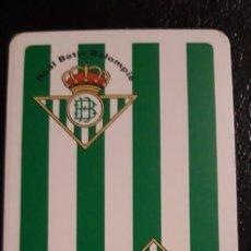 Barajas de cartas: BARAJA DE ** NAIPES COMAS . REAL BETIS BALOMPIE ** . AÑO 1997 . PRECINTADA. Lote 174044918