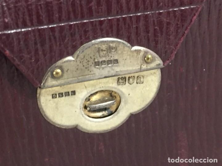 Barajas de cartas: Antiguo Estuche para barajas de Bridge Cierre y letras en plata con punzones - Foto 2 - 174088475