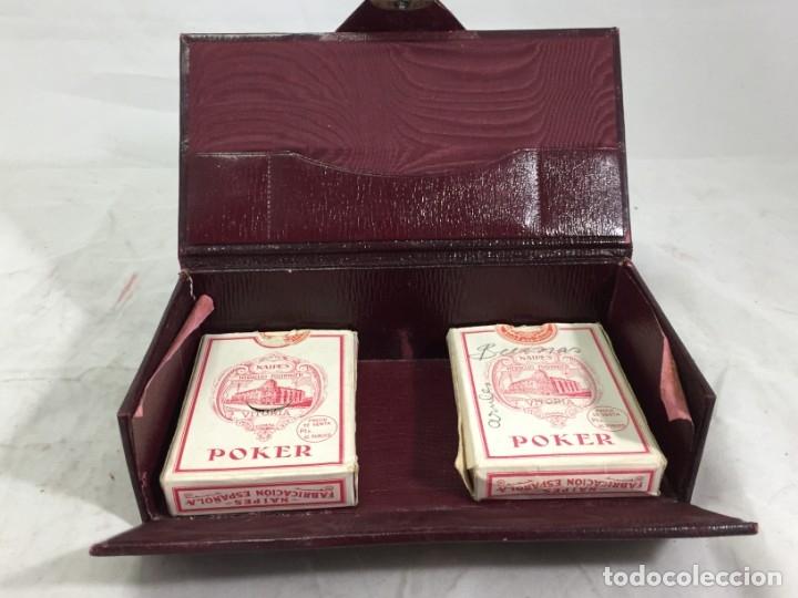 Barajas de cartas: Antiguo Estuche para barajas de Bridge Cierre y letras en plata con punzones - Foto 7 - 174088475
