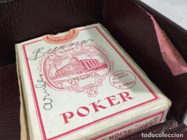 Barajas de cartas: Antiguo Estuche para barajas de Bridge Cierre y letras en plata con punzones - Foto 11 - 174088475