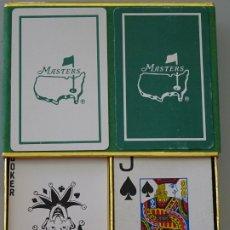 Barajas de cartas: 2 BARAJAS DE CARTAS DE POKER. MASTERS DE GOLF. ESTADOS UNIDOS. 230 GR. Lote 174387285