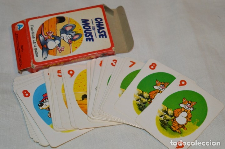 ANTIGUA BARAJA CHASE THE MOUSE - COMPLETA 36 CARTAS / AÑO 1982 ARROW PUZZLES ¡MIRA FOTOS/DETALLES! (Juguetes y Juegos - Cartas y Naipes - Barajas Infantiles)