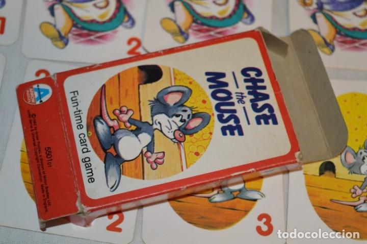 Barajas de cartas: Antigua BARAJA Chase The Mouse - Completa 36 Cartas / Año 1982 ARROW PUZZLES ¡Mira fotos/detalles! - Foto 9 - 174520577