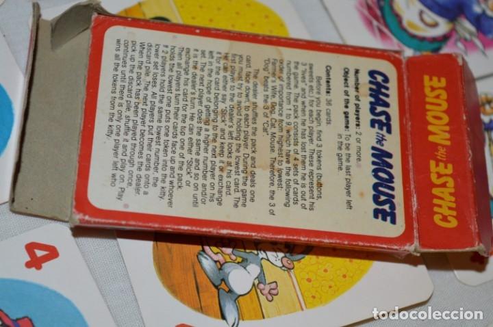 Barajas de cartas: Antigua BARAJA Chase The Mouse - Completa 36 Cartas / Año 1982 ARROW PUZZLES ¡Mira fotos/detalles! - Foto 11 - 174520577