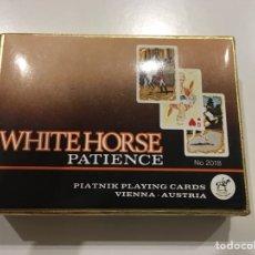 Barajas de cartas: PACK DE DOS BARAJAS AUSTRIA WHITEHORSE PATIENCE. Lote 174530978