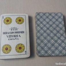 Barajas de cartas: BARAJA HERACLIO FOURNIER - MARCA TITI - COMPLETA 40 CARTAS - SIN CAJA. Lote 174580450