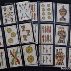 Barajas de cartas: ANTIGUA BARAJA 48 CARTAS MARCA SEBASTIÁN COMAS Y RICART - DE UNA HOJA - MUY BUEN ESTADO. Lote 174625618