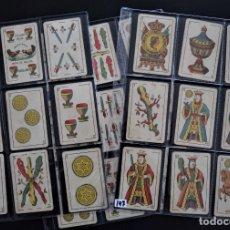 Barajas de cartas: ANTIGUA BARAJA 48 CARTAS MARCA RIÑA DE GALLOS, BARCELONA - DE UNA HOJA - MUY BUEN ESTADO. Lote 174626275