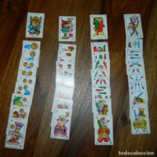 Barajas de cartas: ANTIGUOS NAIPES/CARTAS DE DIBUJOS ANIMADOS INCOMPLETA LEED. Lote 174838574