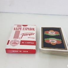 Barajas de cartas: BARAJA DE 40 CARTAS NAIPES ESPAÑOLES FOURNIER CON ANVERSO FARIAS CENTENARIO. Lote 175120097