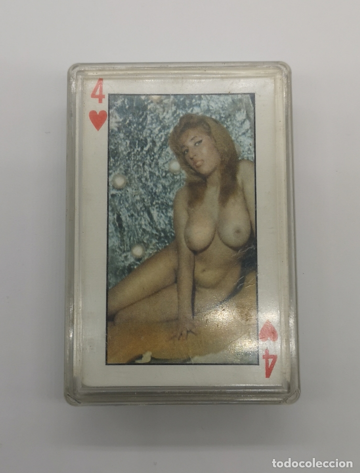 Barajas de cartas: Baraja de Naipes antiguos con fotos eróticas Francesas . - Foto 2 - 175199963