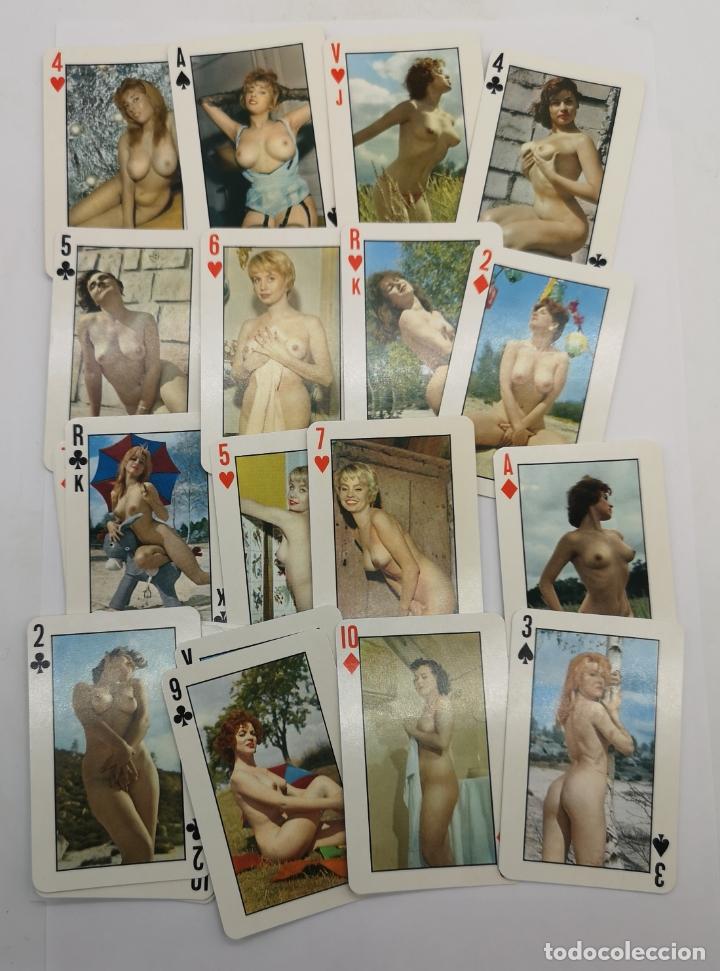 BARAJA DE NAIPES ANTIGUOS CON FOTOS ERÓTICAS FRANCESAS . (Juguetes y Juegos - Cartas y Naipes - Otras Barajas)