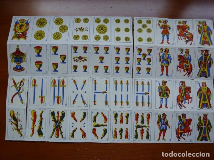 Barajas de cartas: LOTE CINCO MINI BARAJAS NAIPES EN PLIEGO DE LA CASA SERJAN - Foto 2 - 175346998