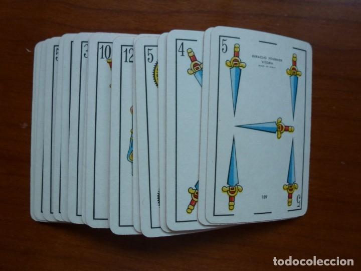 Barajas de cartas: Baraja naipes Fournier 131 Liliput - Años 90 - Foto 3 - 175351092