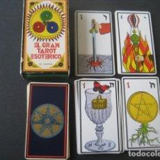 Barajas de cartas: EL GRAN TAROT ESOTERICO. FOURNIER 1978. Lote 175453610