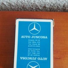Barajas de cartas: BARAJA FOURNIER PUBLICIDAD CONCESIONARIO MERCEDES AUTO JUNCOSA - PRECINTADA - POKER BRIDGE MOTOR. Lote 175520630