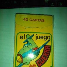 Barajas de cartas: JUEGO DE CARTAS EL JUEGO DE LA GUERRA -- COMPLETO PERO USADO. Lote 175689704