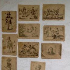 Barajas de cartas: ANTIGUO JUEGO DE CARTAS DE MEDIADOS DEL SIGLO XIX , ESPAÑOLAS , JUEGO DE PREGUNTAS RARO DE VER . Lote 175713053
