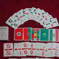 Barajas de cartas: JUEGO ESPAÑOL DE 41 FICHAS CARTAS BARAJA ESPAÑA Y SUS BANDERAS COMPLETO CON INSTRUCCIONES. Lote 175764730