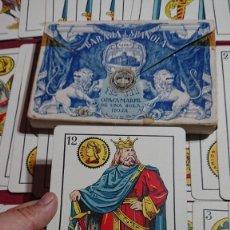 Barajas de cartas: GIGANTE BARAJA ESPAÑOLA NAIPES HERACLIO FOURNIER Nº 111 OPACA MARFIL DE UNA SOLA HOJA . Lote 175765437