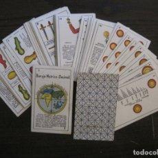 Barajas de cartas: BARAJA METRICO DECIMAL-ORIGINAL-SIGLO XIX-48 CARTAS COMPLETA-VER FOTOS-(CR-1021). Lote 175776953