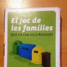 Barajas de cartas: CARTES EL JOC DE LES FAMILIES.. Lote 175794257