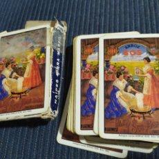 Barajas de cartas: ANTIGUA BARAJA DE CARTAS ARROZ SOS ALGEMESI CARTEL ARROZ SOS 1902. Lote 175895437