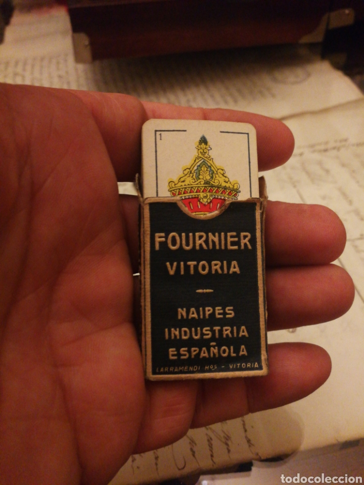 Barajas de cartas: Fournier. Baraja en miniatura. Rara - Foto 2 - 175933644