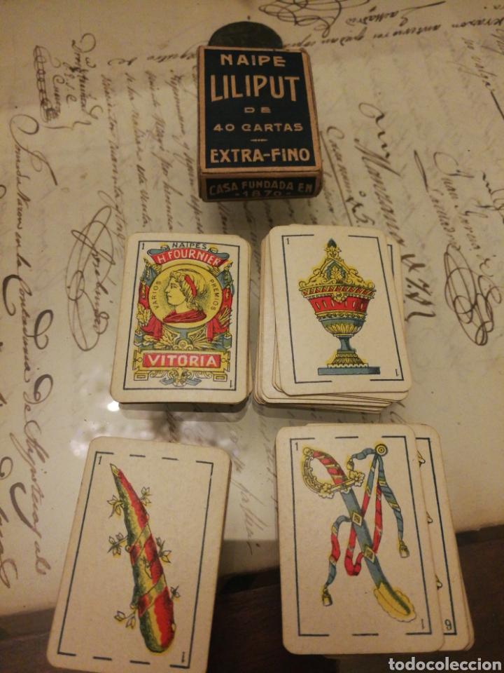FOURNIER. BARAJA EN MINIATURA. RARA (Juguetes y Juegos - Cartas y Naipes - Baraja Española)