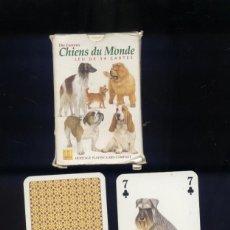 Barajas de cartas: BARAJA DE CARTAS CHIENS DU MONDE 54 CARTAS. Lote 175961558