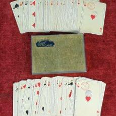Barajas de cartas: DOBLE BARAJA DE 54 CARTAS CADA UNA. ATIEB JO. ÖBERG. CAJA ORIGINAL. SUECIA. 1952. . Lote 175964552