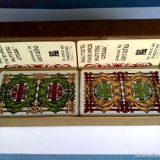 Barajas de cartas: 2 BARAJAS DE POKER DE 50 CARICATURAS CADA DE POLITICOS INTERNACIONALES,DE ENRIC SIO 1973.. Lote 175971603