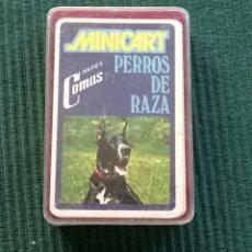 Barajas de cartas: BARAJA INFANTIL MINICART PERROS DE RAZA - NAIPES COMAS - 25 CARTAS COMPLETA. Lote 176056559