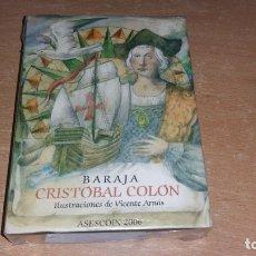 Barajas de cartas: BARAJA CRISTOBAL COLON ILUSTRACIONES ARNÁS ED. LIMITADA PRECINTADA. Lote 176073044