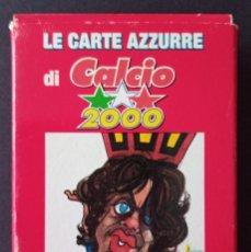 Barajas de cartas: CTC - CARTAS DE FUTBOL LIGA ITALIANA CALCIO AÑO 200O - MODIANO MADE IN ITALY - NUTELLA - PRECINTADO. Lote 176127867