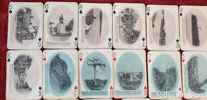 Barajas de cartas: JUEGO DE 48 CARTAS. PLAYING CARDS. ESTADOS UNIDOS. PAMNAMA SOUVENIR. 1908. - Foto 2 - 176238189