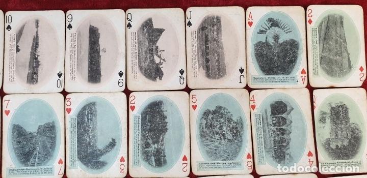 Barajas de cartas: JUEGO DE 48 CARTAS. PLAYING CARDS. ESTADOS UNIDOS. PAMNAMA SOUVENIR. 1908. - Foto 3 - 176238189