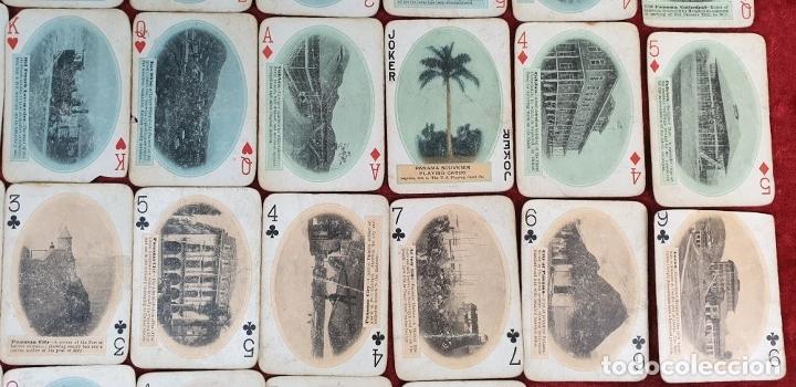 Barajas de cartas: JUEGO DE 48 CARTAS. PLAYING CARDS. ESTADOS UNIDOS. PAMNAMA SOUVENIR. 1908. - Foto 4 - 176238189
