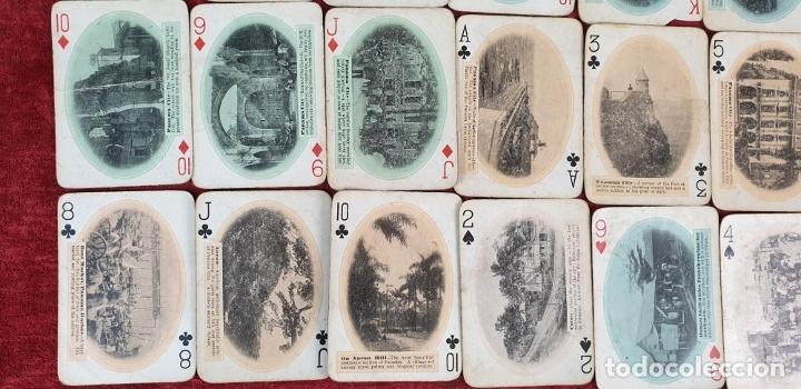 Barajas de cartas: JUEGO DE 48 CARTAS. PLAYING CARDS. ESTADOS UNIDOS. PAMNAMA SOUVENIR. 1908. - Foto 5 - 176238189