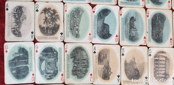 Barajas de cartas: JUEGO DE 48 CARTAS. PLAYING CARDS. ESTADOS UNIDOS. PAMNAMA SOUVENIR. 1908. - Foto 6 - 176238189